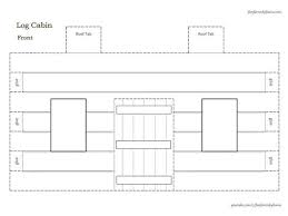 3d log cabin u0026 outhouse instant download template