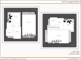 scrapbook page sketch and template bundle november 6 2009