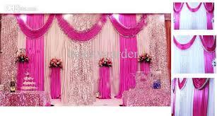 Drape Store Sequins Beads Edge Design Fabric Satin Drape Curtain Wedding