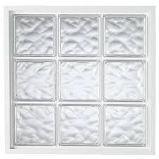 shop hy lite vinyl new construction glass block window