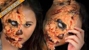evil halloween makeup halloween makeup teddy bear delaniamarvella youtube