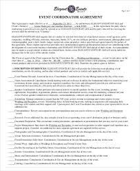 preparation of event plan for wedding sle event contract agreement 8 exles in word pdf contract