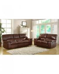 Brown Leather Recliner Sofa Leather Recliner Sofa Sets Sale Foter