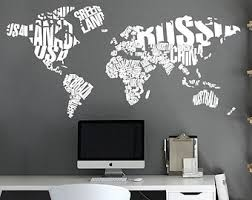world map with country names contemporary wall decal sticker world map watercolor decal watercolor world map wall
