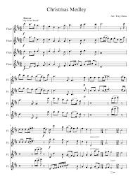 christmas medley flute quartet musescore