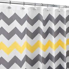 Yellow White Chevron Curtains Grey Yellow White Chevron Zig Zag Stripe 72 Inch Shower Curtain