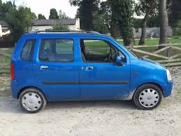 vauxhall agila 2003 1 2 16v club blue 75284 miles mot september