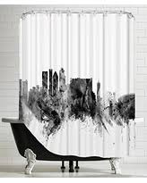 Skyline Shower Curtain Holiday Special American Flat