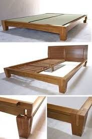 diy platform bed with floating nightstands diy platform bed