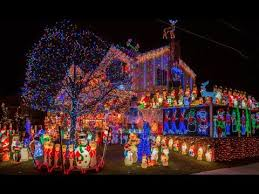 christmas light show house music gopro nyc dyker heights christmas lights with jazz style jingle
