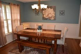 Rustic Farmhouse Dining Room Tables Simple Diy Farmhouse Style Dining Room Table Tutorial The