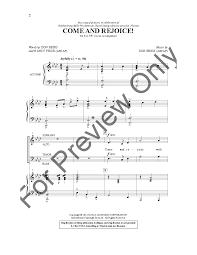 Nancy Price by Come And Rejoice Satb By Nancy Price U0026 D J W Pepper Sheet Music