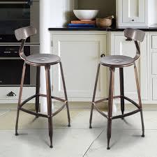 Ladder Back Bar Stool Inspiring Amazing Of Metal Bar Chairs With Backs Ladder Back Stool