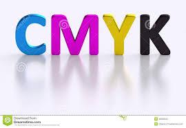 cmyk letter four process color printing stock illustration image