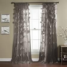 Grey Sheer Curtains Astonishing Window Curtain Lush Decor Lushdecorcom Of Light
