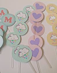 this is a listing for 12 of these adorable rain clouds cardstock
