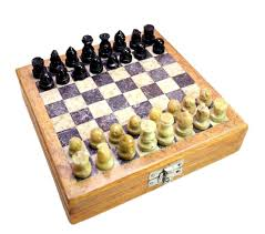 buy classic chess inlaid wood board game with wooden chess set