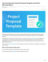 use this interactive project proposal template and ditch microsoft w u2026