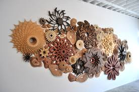 layered wooden sculptures by joshua abarbanel design