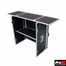 Foldable Computer Desk by Fold Away Dj Performance Desk Silver U0026 Black Dj Equipment