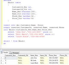 t sql insert into new table sunday t sql tips inserted deleted tables and output clause part