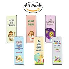 Good Stocking Stuffers Bookmarks For Kids 60 Pack Scripture Bible Verses Psalm 23