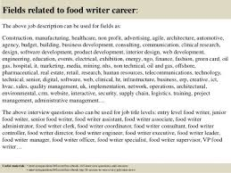food editor cover letter
