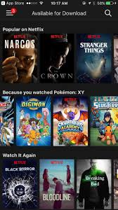 netflix will let you download video to go but not movies and