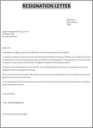 sample letters of resignation templates resignation letter