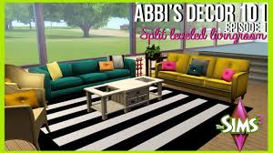 abbi u0027s décor 101 split level living room the sims 3 youtube