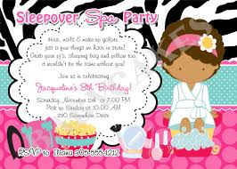 Online Birthday Invitation Card Maker Free Spa Slumber Party Invitations Free Printable Birthday Party