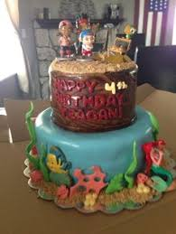 little mermaid u0026 pirates of the caribbean cake if you have twins
