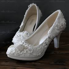 white lace wedding shoes allens bridal discount white lace bridal wedding shoes for sale