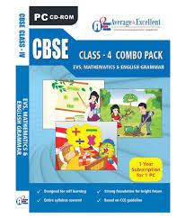 cbse class 4 evs mathematics english grammar educational cd roms
