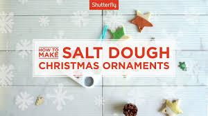 how to make salt dough ornaments youtube