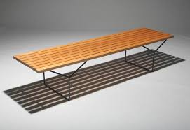 Slat Bench Slat Bench For Sale At Los Angeles Modern Auctions
