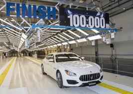 cinque porte maserati già 100 000 auto prodotte a grugliasco