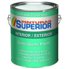 superior 1 gal white semi gloss bone latex interior exterior