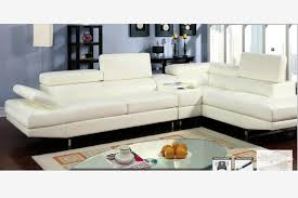 modern white leather sectional sofa couch console bluetooth speaker
