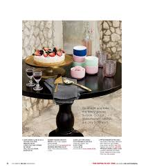 cb2 bistro table cb2 april catalog 2017 page 36 37 interior
