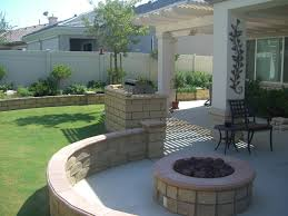 Modern Fire Pits by Charming Backyrad Patio Decor Ideas With Round Fire Pit And Curved