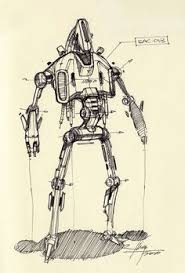 sketch of a robot by spencer nugent sketch product pinterest