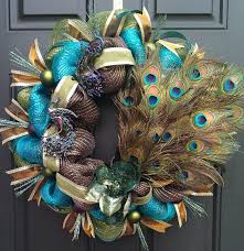 mardi gras deco mesh peacock mardi gras turquoise brown and green deco mesh wreath on