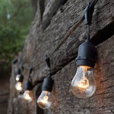 Clear Patio String Lights Commercial Patio String Lights Clear A15 Bulbs Yard Envy