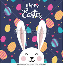 Easter Egg Decorating Poster by Vector Typographic Easter Poster Easter Bunny Stock Vector