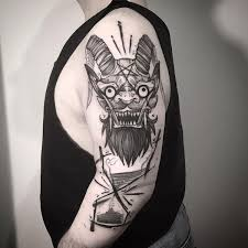 hannya mask tattoo black and grey quarter sleeve tattoo ideas for men and women 2018