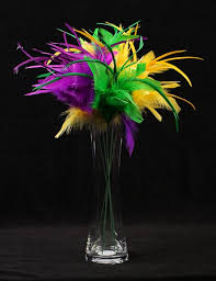 mardi gras feathers mardi gras table centerpieces package of 6 mardi gras
