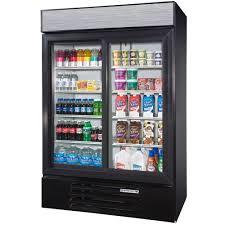 beverage cooler with glass door beverage air lv45 1 b led black lumavue 52