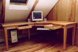 Diy L Desk Custom L Shaped Computer Desk Vermont Furniture Works