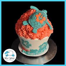 turtle giant birthday cupcake blue sheep bake shop
